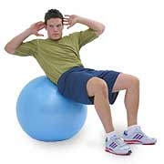 swiss exercise ball color shinyblue