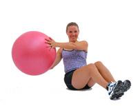 torso rotation with swissball