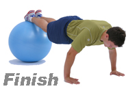 push ups exercise finish