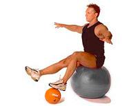seated balance on swissball