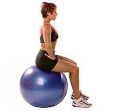 rehabilitation exercise seated lumbar mobility stretch