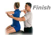 spine twist exercise finish