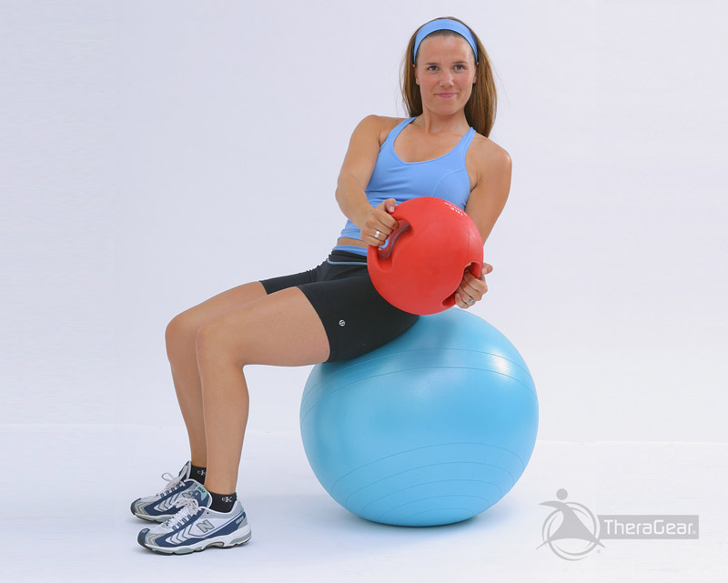 medicine ball oblique crunch exercise