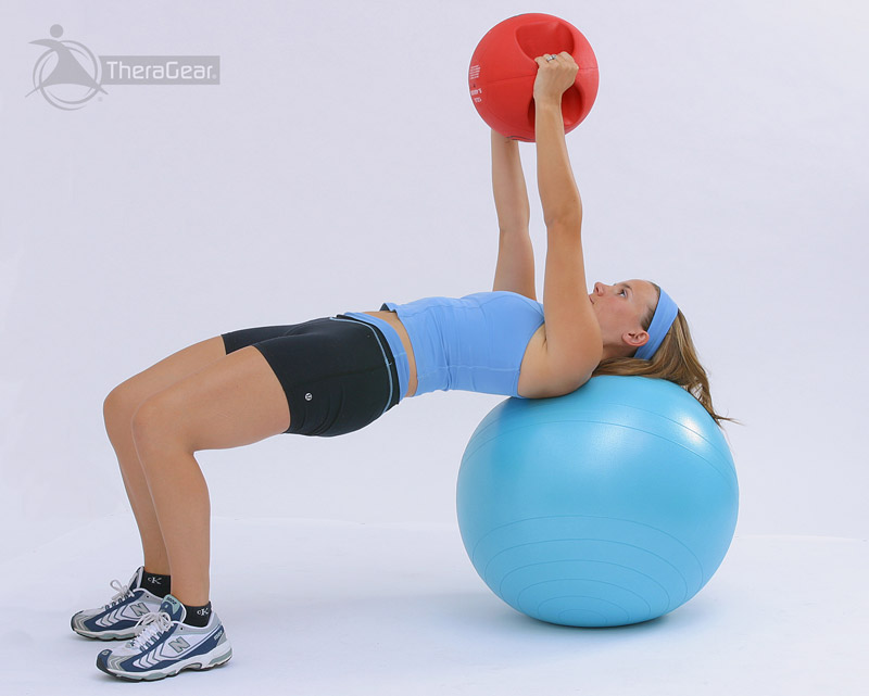 russian twist on swissball