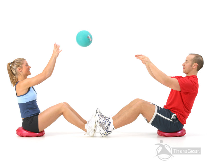 seated medicine ball throw exercise